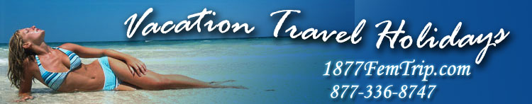 Last Minute Caribbean and Mexico air and hotel vacation specials.  Weddings and Groups Vacation Travel Holidas to Punta Cana, Jamaica, Cancun, Cozumel and more destinations. Top level award winner - Funjet Vacations club 500 VacationTravelHolidays.com - Friendly Economical Memorable Vacation Travel Holidays
